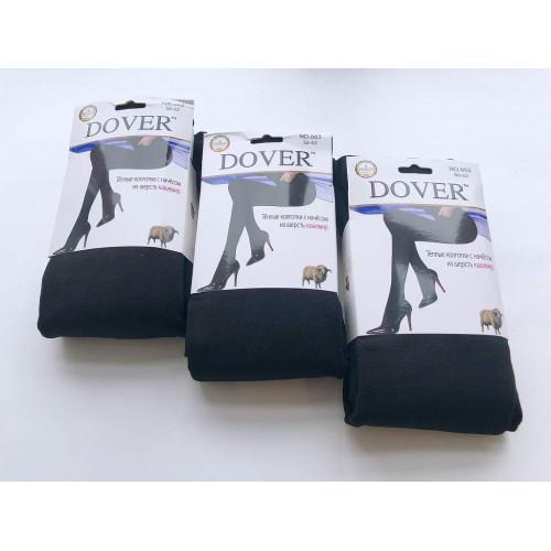 Колготки женские черные теплые Dover 663 кашемир c начесом