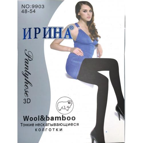Колготки женские Ирина шерсть рисунок ромбики 9903