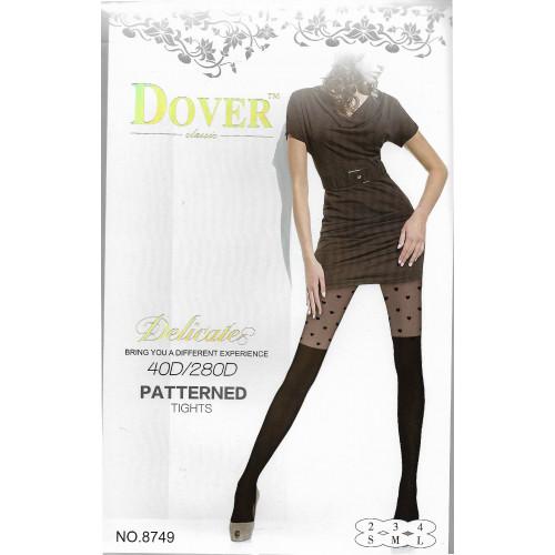 Колготки женские Dover имитация ботфорт 40d/280d рис.сердца 8749